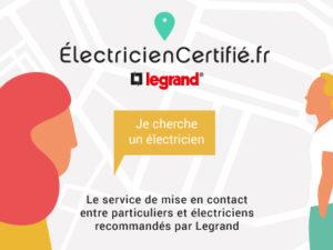 Electricien certifie Legrand