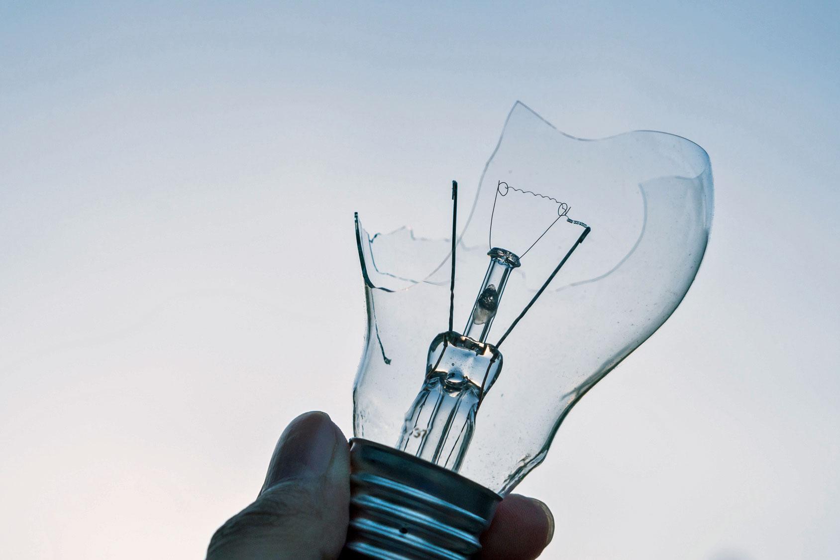 Panne ampoule électrique
